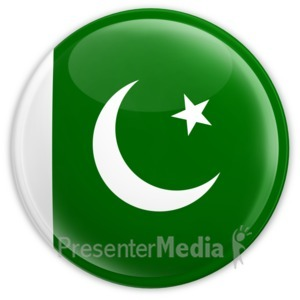 ID# 2204 - Badge of the Pakistan Flag - Presentation Clipart