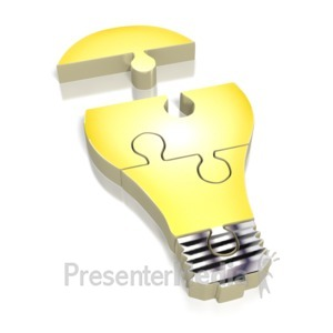 ID# 2206 - Lightbulb Puzzle - Presentation Clipart