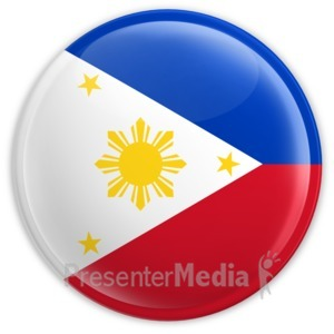 ID# 2209 - Badge of the Flag of Philippines - Presentation Clipart