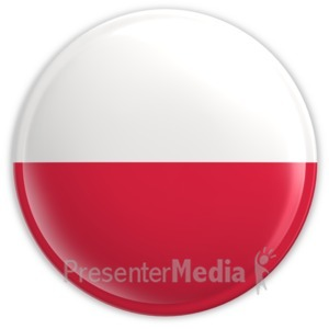 ID# 2210 - Badge of the Flag of Poland - Presentation Clipart
