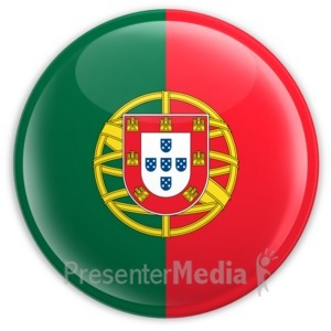 ID# 2212 - Badge of the Flag of Portugal - Presentation Clipart