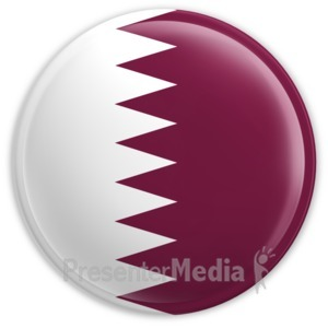 ID# 2213 - Badge of the Flag of Qatar - Presentation Clipart