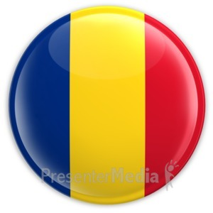 ID# 2215 - Badge of the Flag of Romania - Presentation Clipart