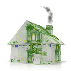 ID# 2223 - Euro Money House - Presentation Clipart
