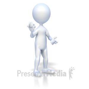 ID# 2224 - Figure Conversational Pose - Presentation Clipart