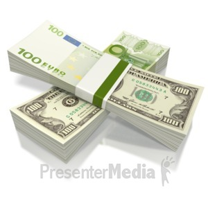ID# 2228 - Split Currency  - Presentation Clipart