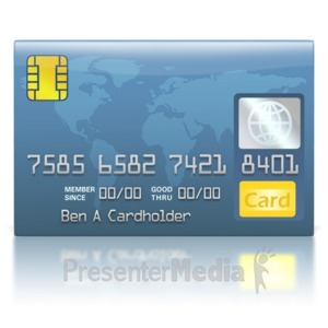 ID# 2233 - Credit Card Blue World - Presentation Clipart