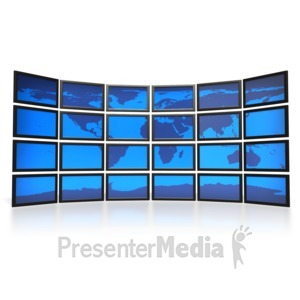 ID# 2237 - World Screens  - Presentation Clipart