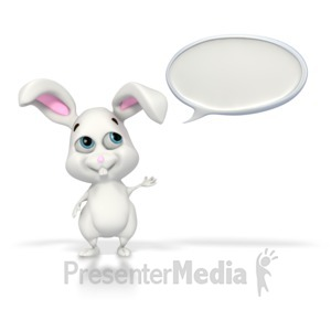 ID# 2256 - Easter Bunny Conversation - Presentation Clipart