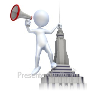ID# 2270 - Shout From Roof - Presentation Clipart