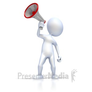 ID# 2276 - Figure With Megaphone - Presentation Clipart