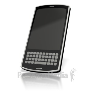 ID# 2329 - Touch Smart Phone Blank  - Presentation Clipart