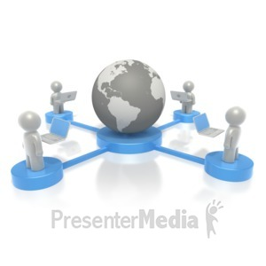ID# 2337 - Platform Connection  - Presentation Clipart
