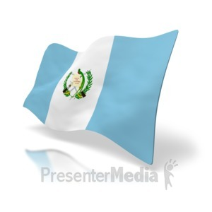 ID# 2347 - Guatemala Flag Perspective - Presentation Clipart