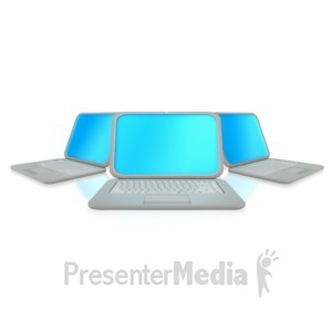 ID# 2362 - Three Laptop Computers - Presentation Clipart