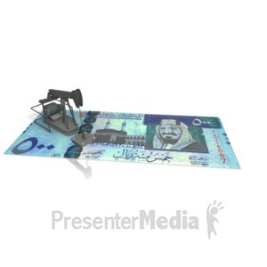 ID# 2381 - Oil Money Saudi Arabia - Presentation Clipart