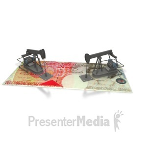 ID# 2384 - Oil Money UK - Presentation Clipart