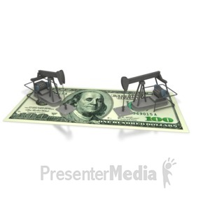 ID# 2386 - Oil Money America - Presentation Clipart
