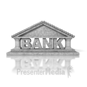 ID# 2420 - Bank Building - Presentation Clipart