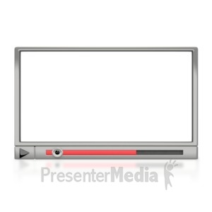 ID# 2451 - Media Player Window - Presentation Clipart