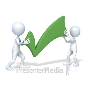 ID# 2453 - Figures With Check Mark - Presentation Clipart