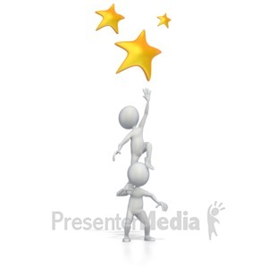 ID# 2462 - Reaching For The Stars - Presentation Clipart