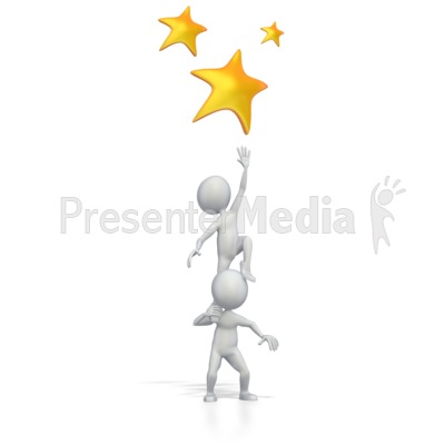 Reaching For The Stars PowerPoint Clip Art