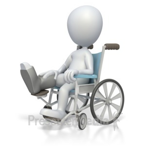 ID# 2475 - Stick Figure In Wheelchair  - Presentation Clipart