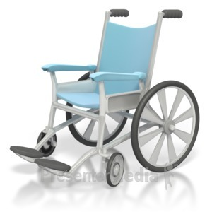 ID# 2476 - Medical Wheelchair  - Presentation Clipart