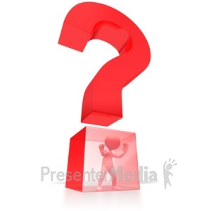 ID# 2509 - Stuck In Question  - Presentation Clipart