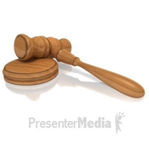 ID# 2525 - Court Gavel - Presentation Clipart