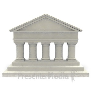ID# 2526 - Old Courthouse  - Presentation Clipart