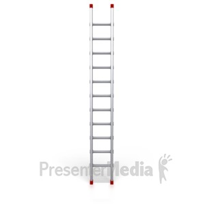 ID# 2527 - Metal Ladder Standing Upright - Presentation Clipart