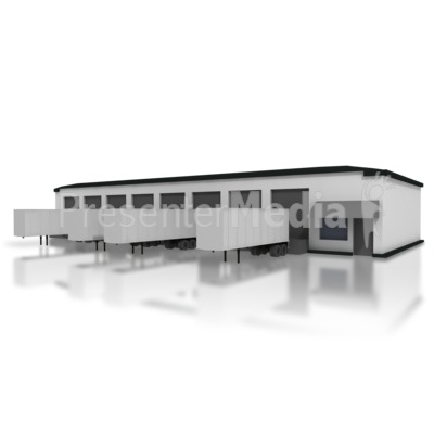 large warehouse - business and finance - great clipart for