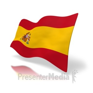 ID# 2556 - Flag Of Spain - Presentation Clipart
