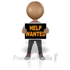 ID# 2561 - Figure Help Wanted - Presentation Clipart