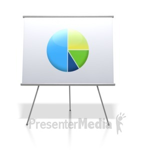 ID# 2588 - Financial Pie Chart Board - Presentation Clipart