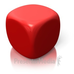 ID# 2610 - Blank Red Dice - Presentation Clipart