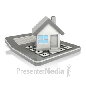 ID# 2619 - Financial House Calculator  - Presentation Clipart