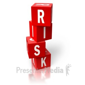 ID# 2637 - Risk Red Stacked Blocks - Presentation Clipart