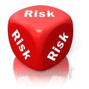 ID# 2638 - Risk Red Dice - Presentation Clipart