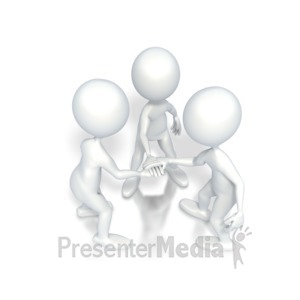 ID# 2660 - Go Team Motivational Huddle - Presentation Clipart