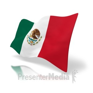ID# 2664 - Flag Of Mexico - Presentation Clipart
