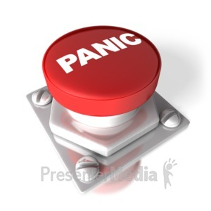 ID# 2667 - Panic Button - Presentation Clipart
