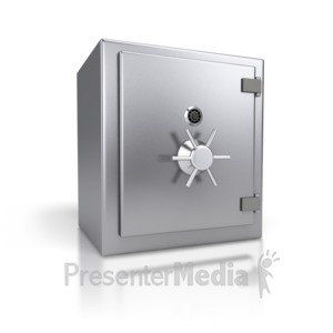 ID# 2700 - Steel Safe Closed - Presentation Clipart
