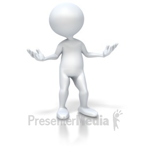 ID# 2727 - 3D Figure Undecided - Presentation Clipart