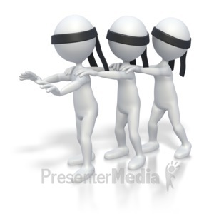 ID# 2766 - Blind Leading Blind  - Presentation Clipart