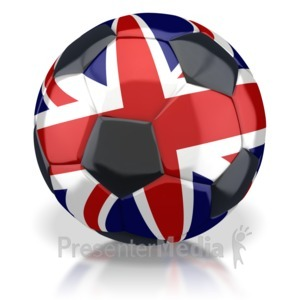 ID# 2818 - United Kingdom Soccer Ball  - Presentation Clipart