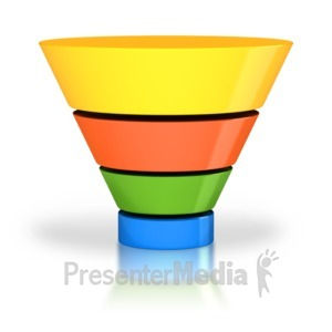 ID# 2822 - Sales Funnel Four Stage - Presentation Clipart