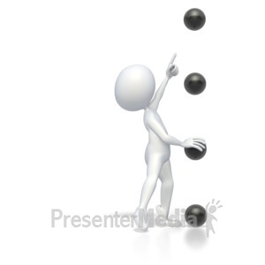 ID# 2828 - Bullet Point Stick Figure Point High  - Presentation Clipart